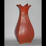 Square Bottle Vase with Fluting
