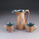 Mugs and pitcher