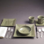 Place Setting with Prairie Grass Prints